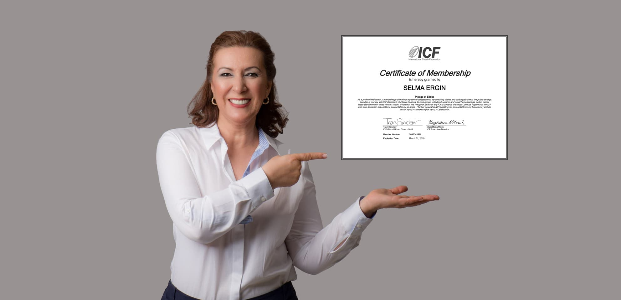 Selma Ergin | ICF Global (Uluslararası Koçluk Federasyonu) Üyelik Sertifikası