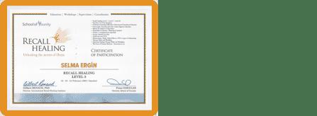 Selma Ergin | Eğitim Sertifikası